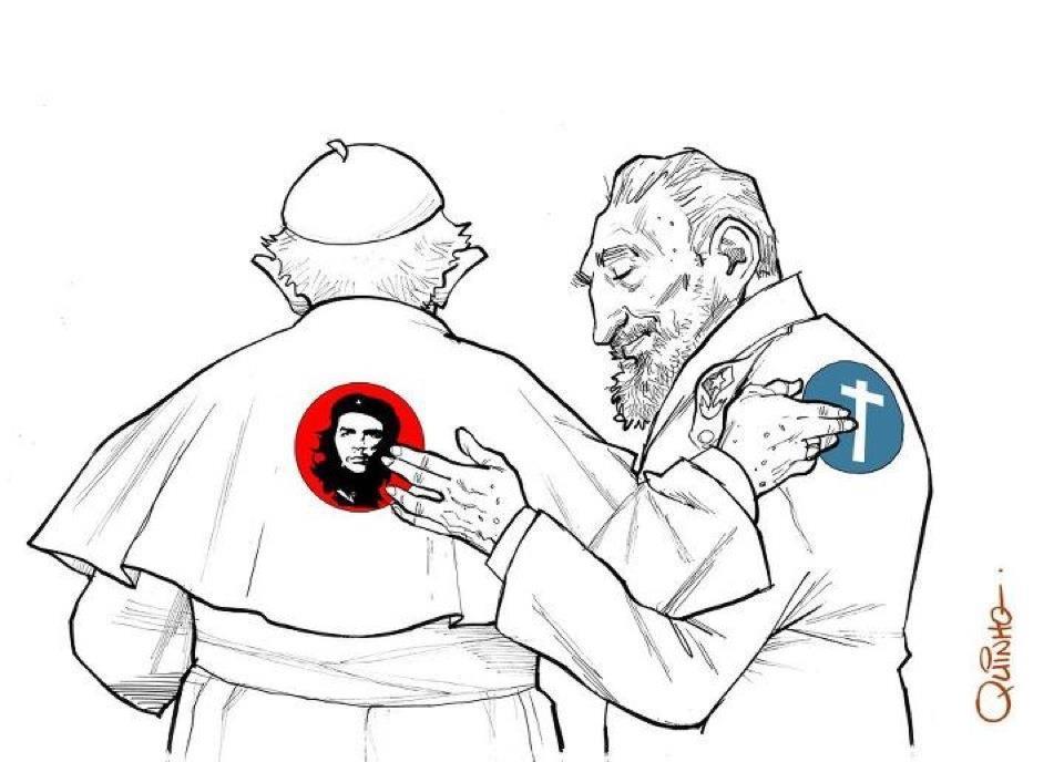 Fidel Castro si Benedict al XVI lea