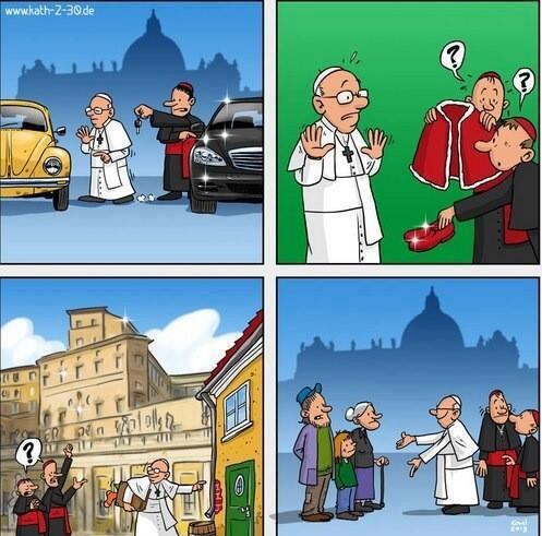 Sfantul parinte papa Francisc si modestia sa