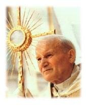Ioan Paul al II lea si adoratia
