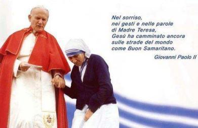 Ioan Paul al II lea si Maica Tereza