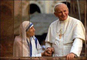 Ioan Paul si Maica Tereza