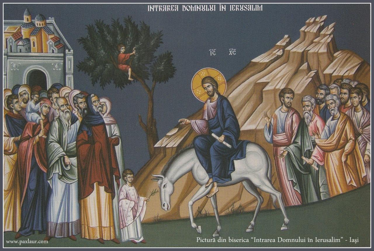 Intrarea Domnului in Ierusalim_pictura interior