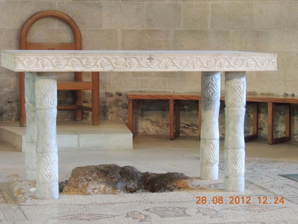 Piatra pe care Isus a binecuvatat painile si pestii