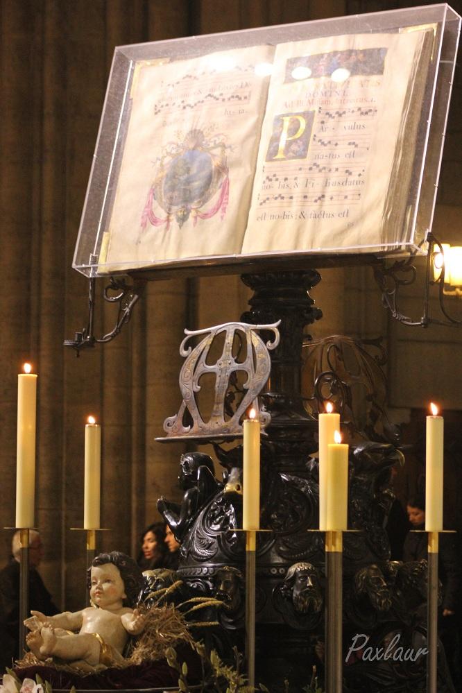 Pruncul si Evanghelia in catedrala Notre Dame Paris