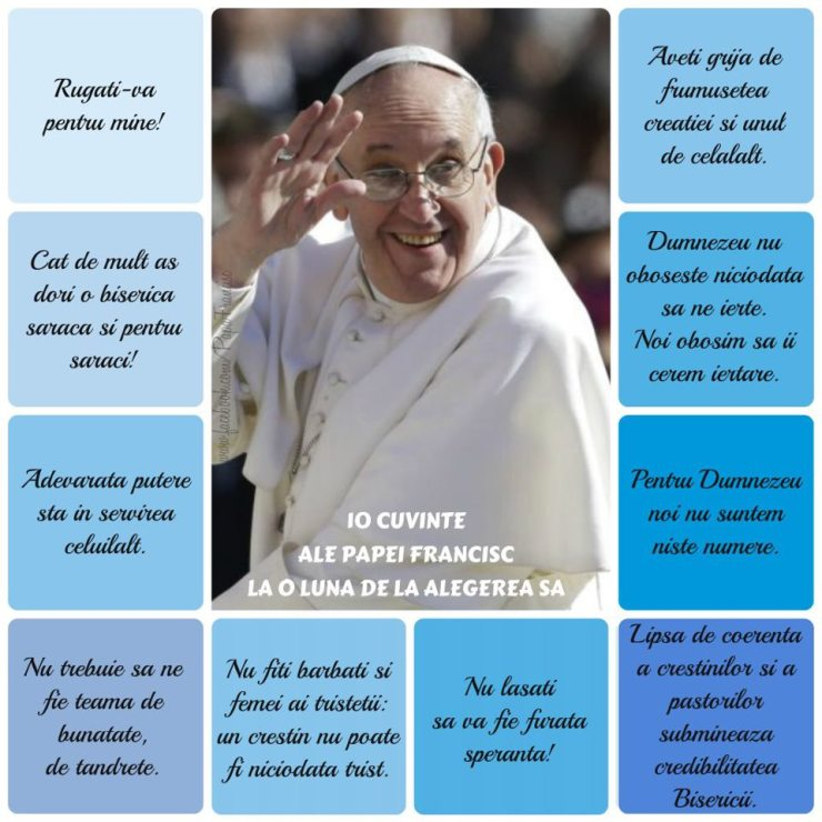 Imaginea este preluata de pe https://www.facebook.com/PapaFrancisc
