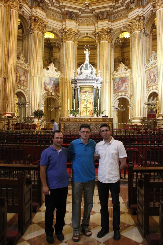 Malaga Catedrala cu organizatorii