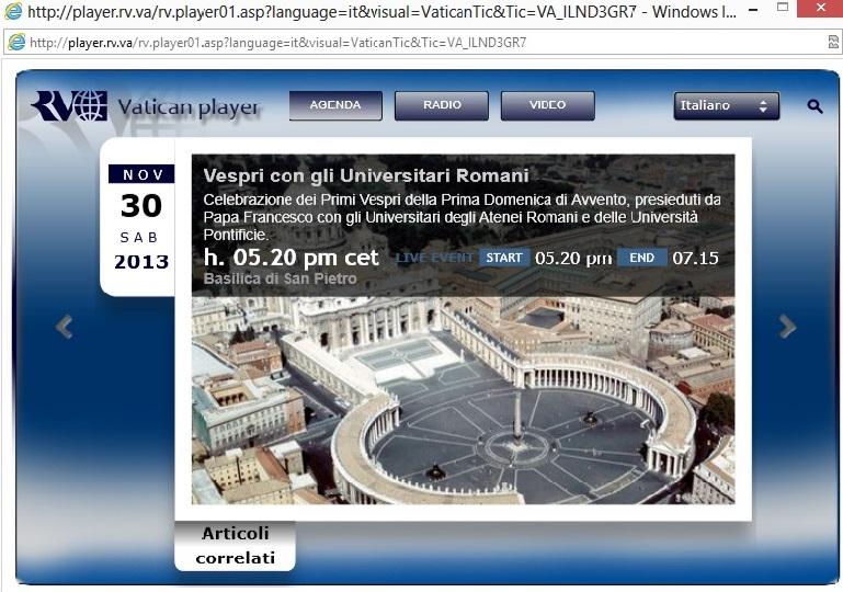 Invitatie la Rugaciune cu sfantul parinte papa Francisc