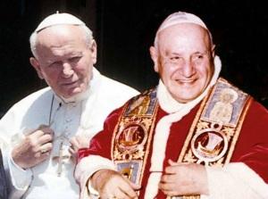 doi sfinti Ioan al XXIII si Ioan Paul al II lea