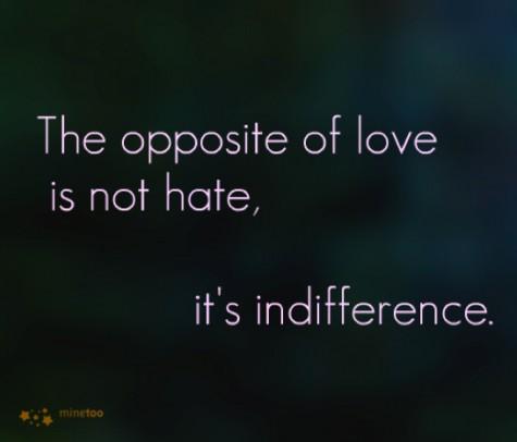 indiferenta opusul iubirii