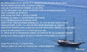 Pius 12 Discurs catre cei care au incheiat de curand casatoria