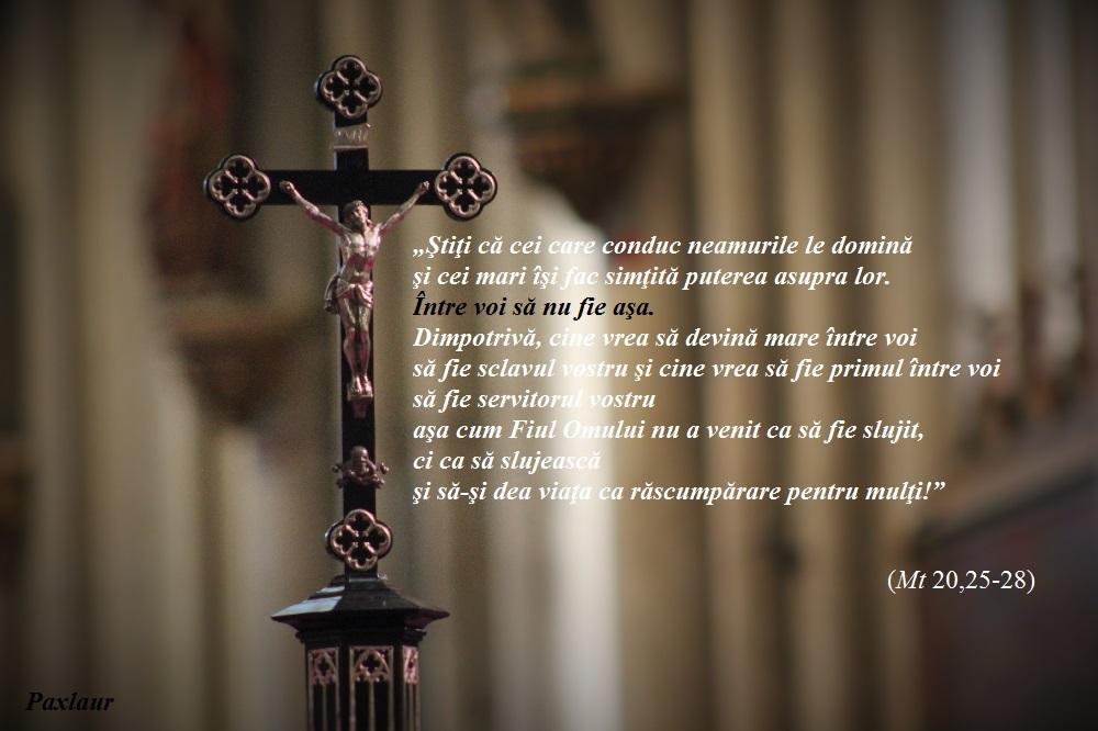 Crucifix_slujire Mt 20_25_28