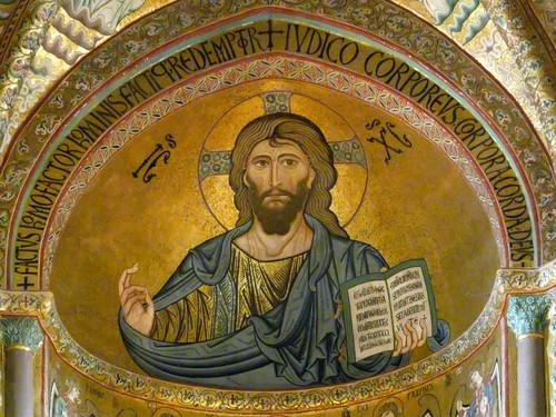 Duomo di Cefalù Isus Cristos