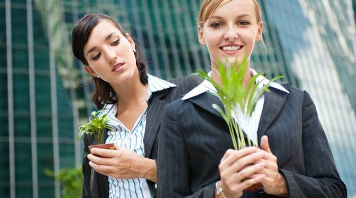 Businesswomen with Plants