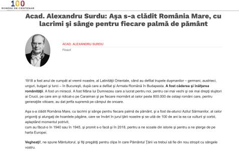 100 romani de centenar Alexandru Surdu