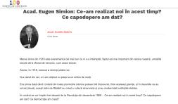 100 romani de centenar Eugen Simion