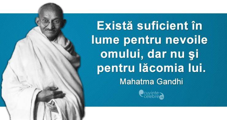 Lacomia Mahatma Gandi