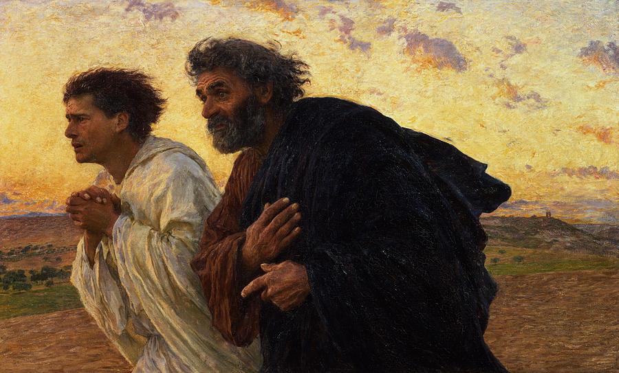 sfantul ioan si sfantul Petru alearga spre mormant