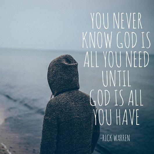 Dumnezeu e tot ce am nevoie