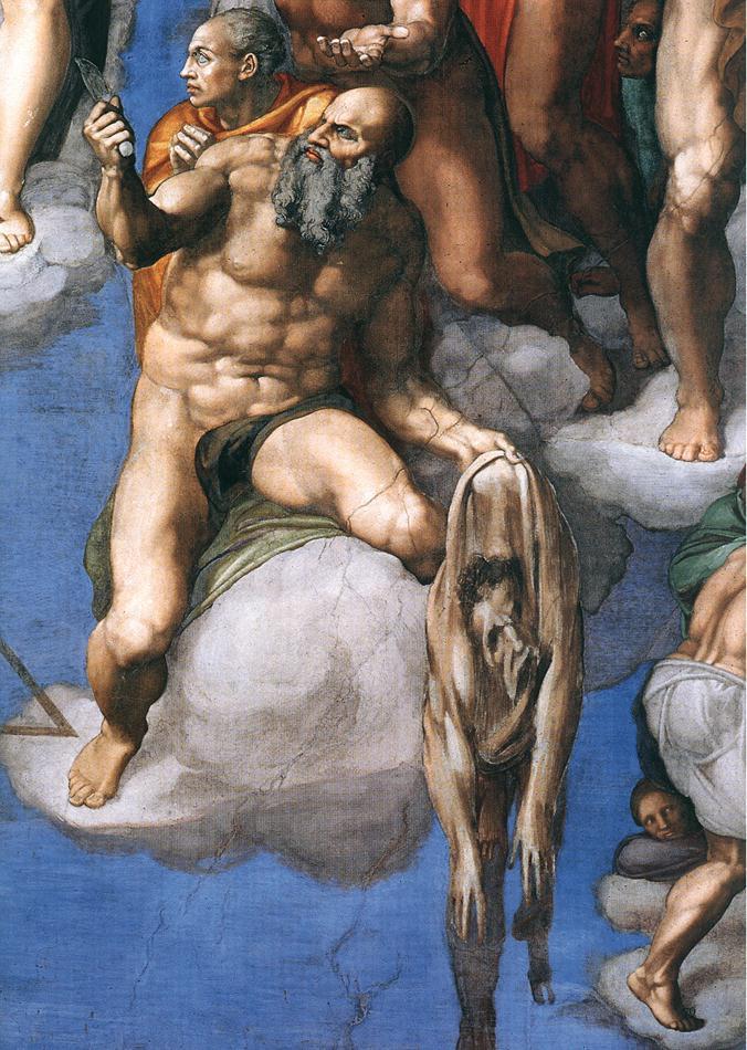 Bartolomeu si Michelangelo in capela sixtina