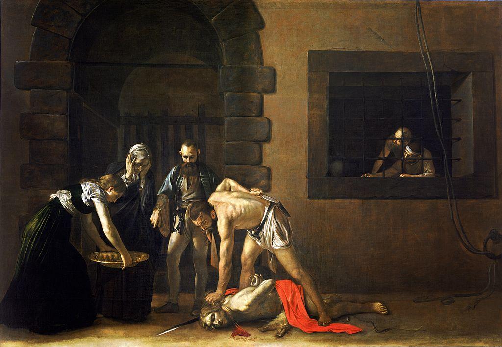 Caravaggio_Taierea capului sfântului Ioan Botezatorul