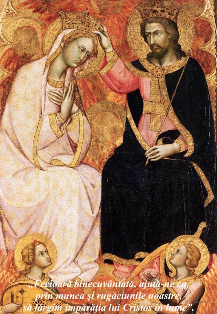 incoronarea sfintei fecioare maria ca regina