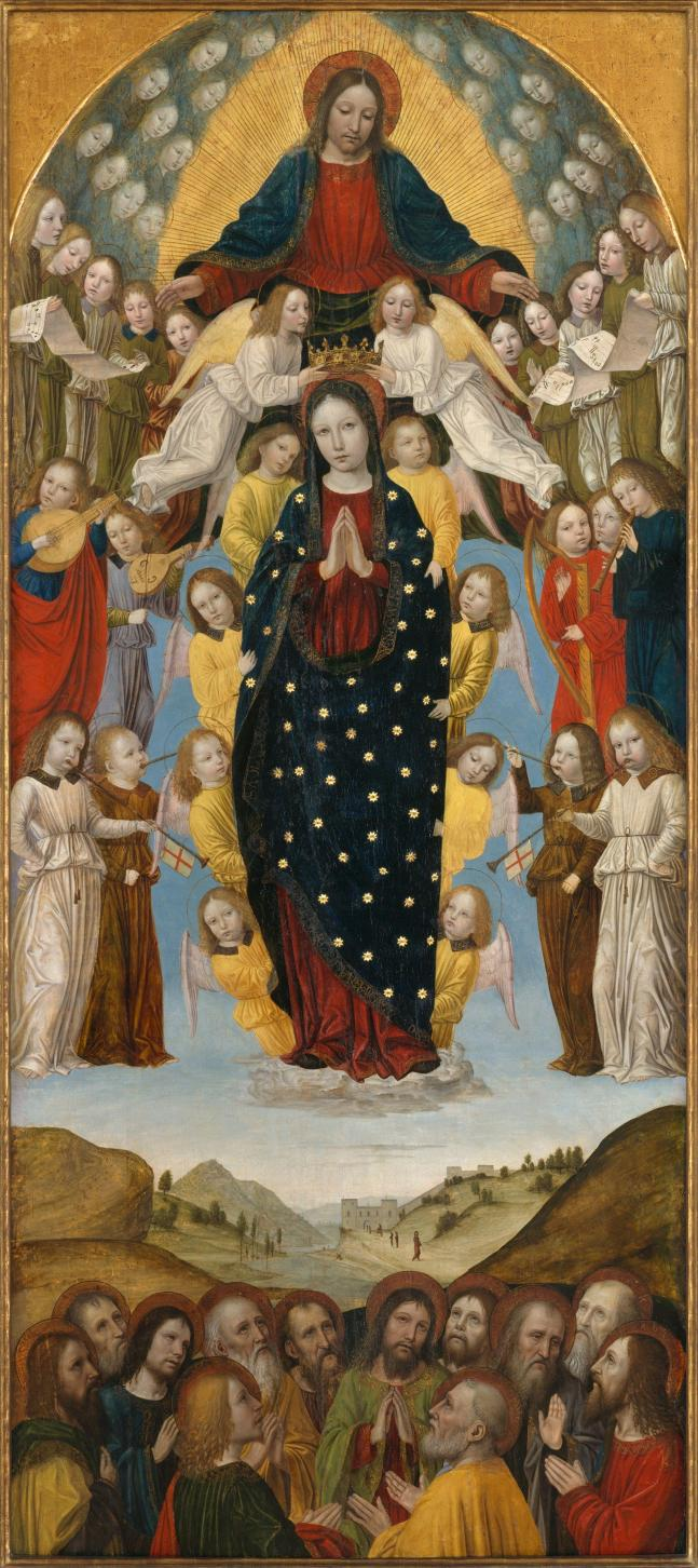 Adormirea Maicii Domnului și încoronarea ei ca Regină, Ambrogio di Stefano - Bergognone (1453-1523)