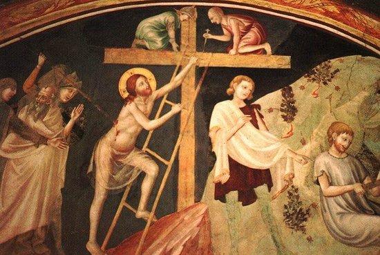 Gesù sale sulla Croce - Monastero S. Antonio in Polesine Ferrara (Scuola giottesca-emiliana, sec. XIV)