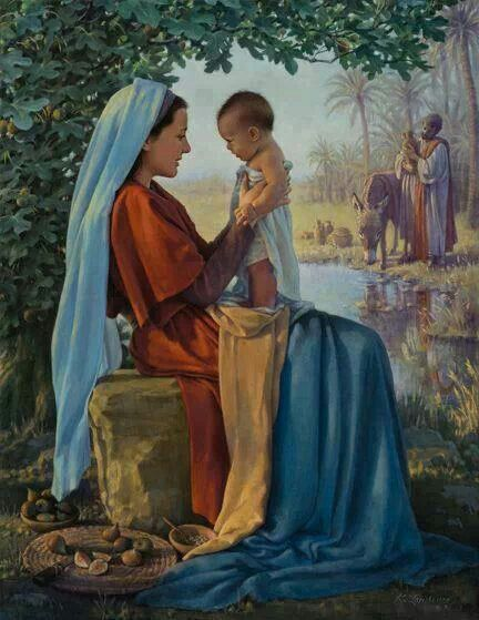 fecioara Maria pruncul Isus si sfantul Iosif