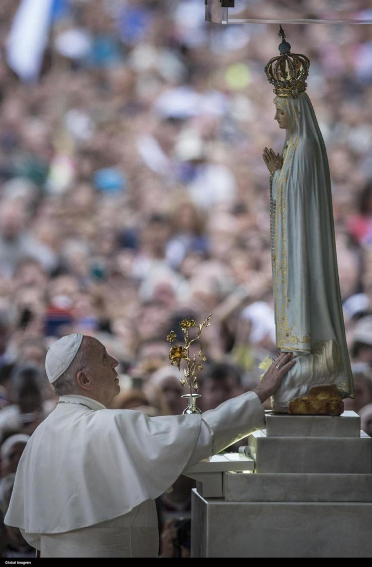 Papa Francesco in visita a Fatima