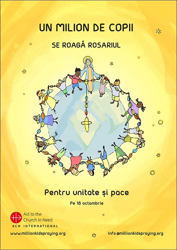 un milion de copii se roaga rozariul pentru pace
