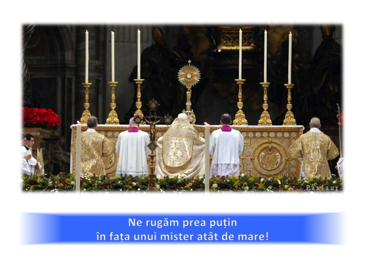 Adoratie Euharistica Biserica Papa_mistere