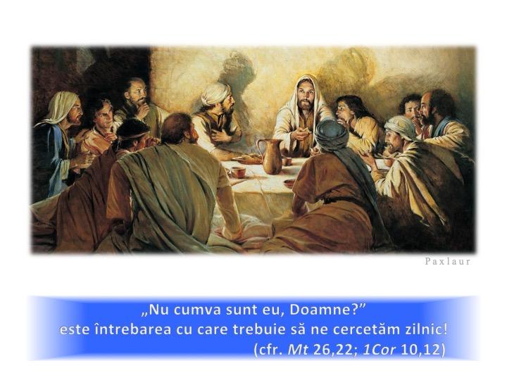 iuda tradare cercetarea cugetului euharistia