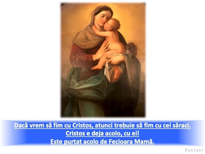 decembrie 23_duminica a IV din Advent Cristos Maria si saracii