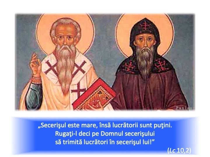 14 februarie sfintii Ciril si Metodiu