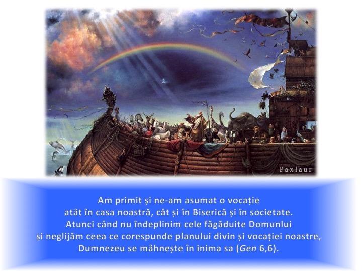 19 februarie potopul si vocatia omului