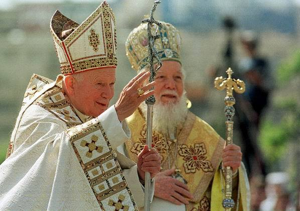 Ioan Paul II si patriarhul Teoctist