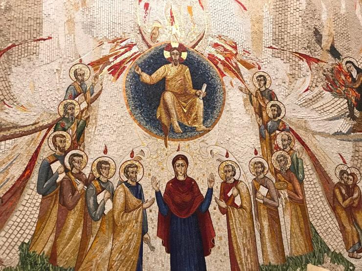 Isus Cristos_Maria si apostolii in rugaciune_rusalii Treime