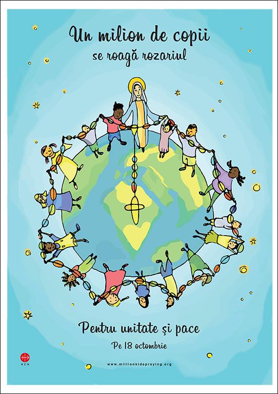 un milion de copii se roaga rozariul pentru unitate si pace