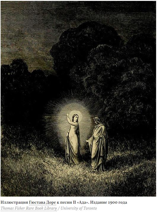 Sfanta Lucia și Dante Alighieri
